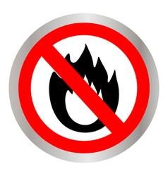 No Fire vector image