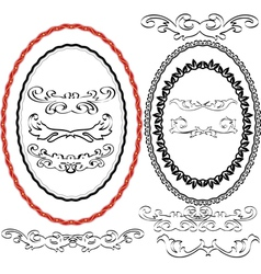 Oval border vector