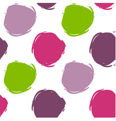Seamless decorative pattern with ink draw circles vector