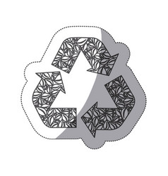 silhouette symbol reuse reduce and recycle icon vector image