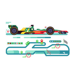 sport car on track vector image