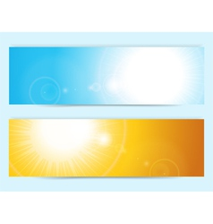 Summer sky banners vector