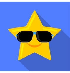 Sun in glasses icon vector image