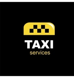 taxi emblem vector image vector image