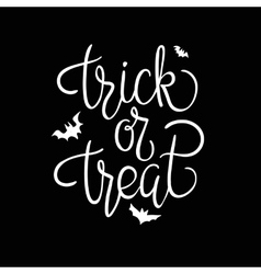 Trick or treat quote halloween poster vector