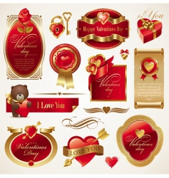 valentines day vector set vector image vector image