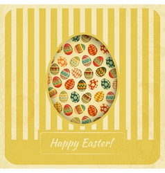 Vintage Yellow Easter Card vector image vector image