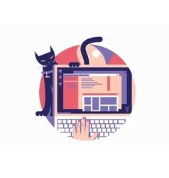 Browser design flat vector image