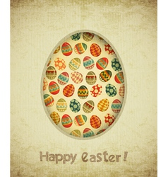 Vintage retro easter card vector