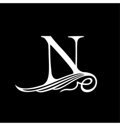 Capital Letter N for Monograms Emblems and Logos vector image