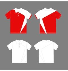 Modern polo shirt design vector