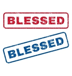 Blessed rubber stamps vector
