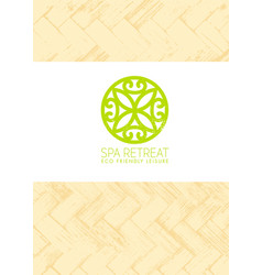 spa retreat organic eco background nature vector image