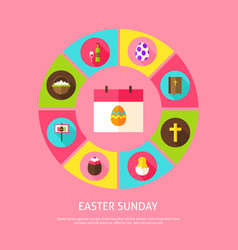 Easter sunday concept vector