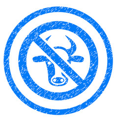 Forbidden cattle rounded grainy icon vector