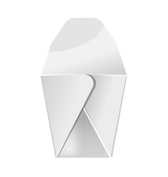 blank white food paper container isolated vector image
