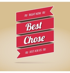 Best chose poster vector