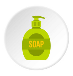 Liquid soap icon circle vector