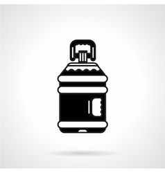 Black big plastic bottle icon vector