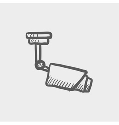 Rooftop antenna sketch icon vector