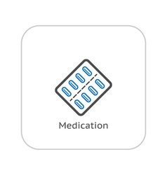 Medication and medical services icon vector