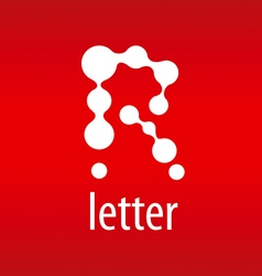 Tech logo letter r on a red background vector