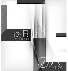 Geometric shapes with option elements infographic vector