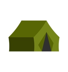 Hunting tent icon vector