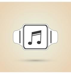 Icon of smart watch design vector