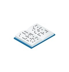 Book written in braille icon isometric 3d style vector