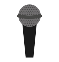 Microphone stand isolated icon design vector
