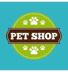 Seal stamp icon pet shop design graphic vector