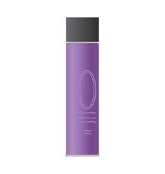 A hair spray is placed vector