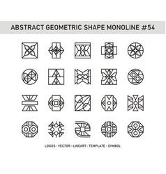 Abstract geometric shape monoline 54 vector
