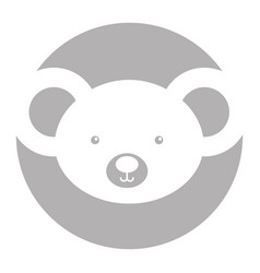 Animal koala cartoon vector