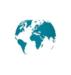 Blue world map globe isolated vector