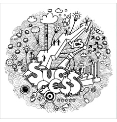 Business doodles on white vector image vector image