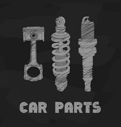 car parts vector image vector image