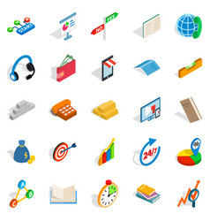 collective icons set isometric style vector image vector image