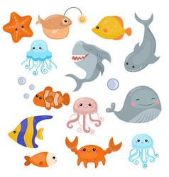 Cute sea creatures cute sea creatures vector