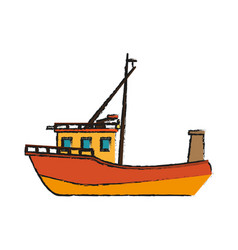 Fishing boat icon image vector
