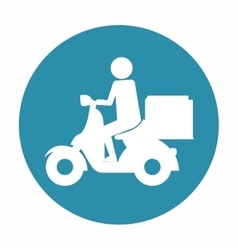 Food delivery related icons image vector