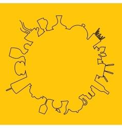 Food logo design vector