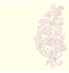 Hand Drawn Paisley ornament vector image vector image