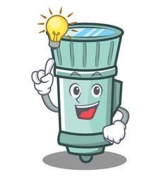Have an idea flashlight cartoon character style vector