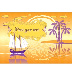 lagoon vector image