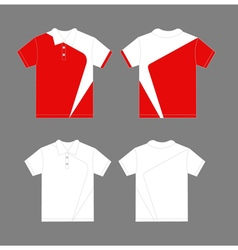 Modern polo shirt design vector