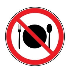 no food sign vector image