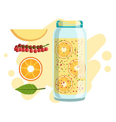 Orange apple and red currant smoothie non vector