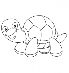 outlined turtle vector image